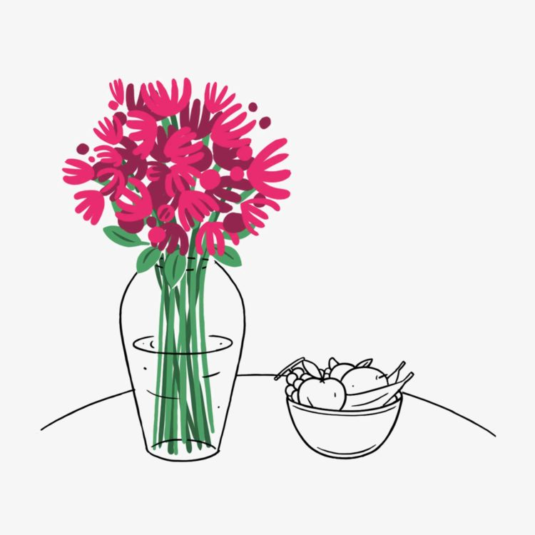 Flower Care - Avoid Fruit and Vegetables - Flower delivery Switzerland