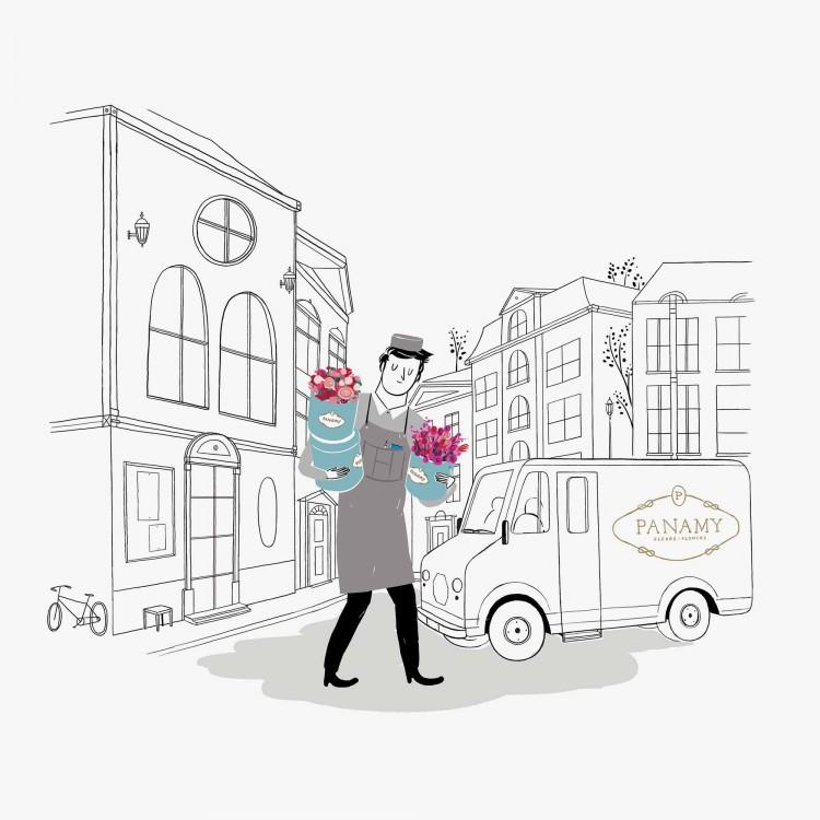 Blumenversand Schweiz - Der BlumenBote liefert - PANAMY Zürich, Basel, Bern, St Gallen, Luzern