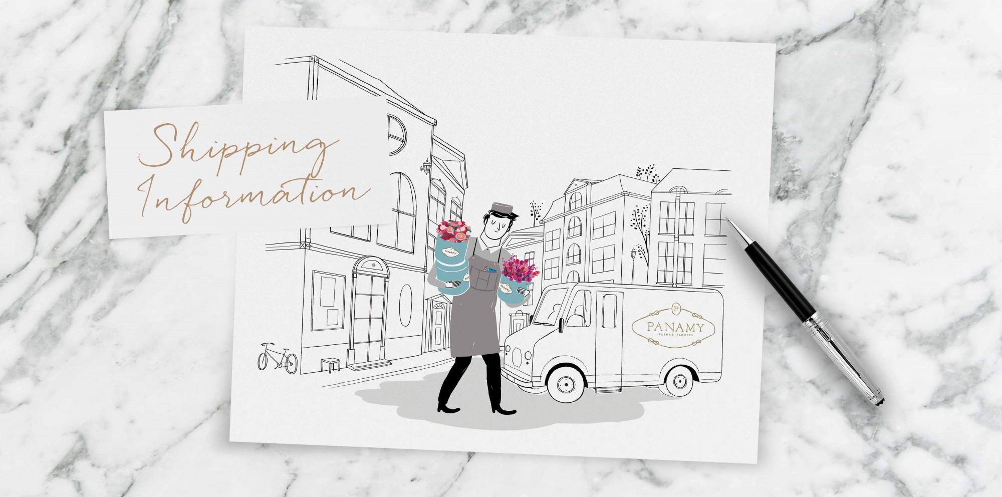 Shipping Information - Send Flowers Switzerland - PANAMY Flower Delivery in Geneva Zürich Basel Bern