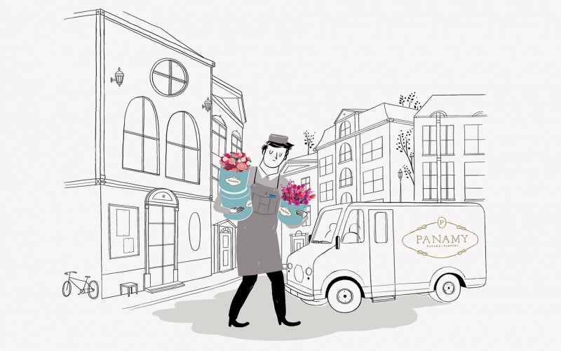 How it Works - PANAMY Flower Delivery Geneva Switzerland, We create and deliver stunning bouquets.