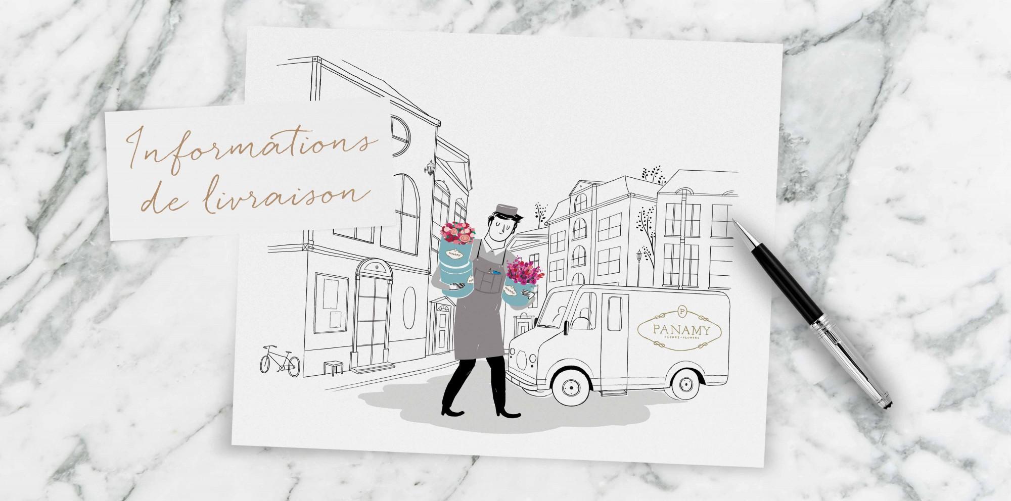 Information de livraison - PANAMY livraison des fleurs en Suisse , Geneve, Lausanne, Montreux, Zürich, Bale