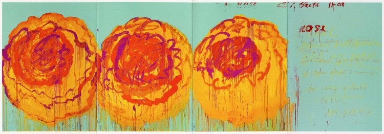Cy Twombly - The Rose - PANAMY Flower Delivery Switzerland