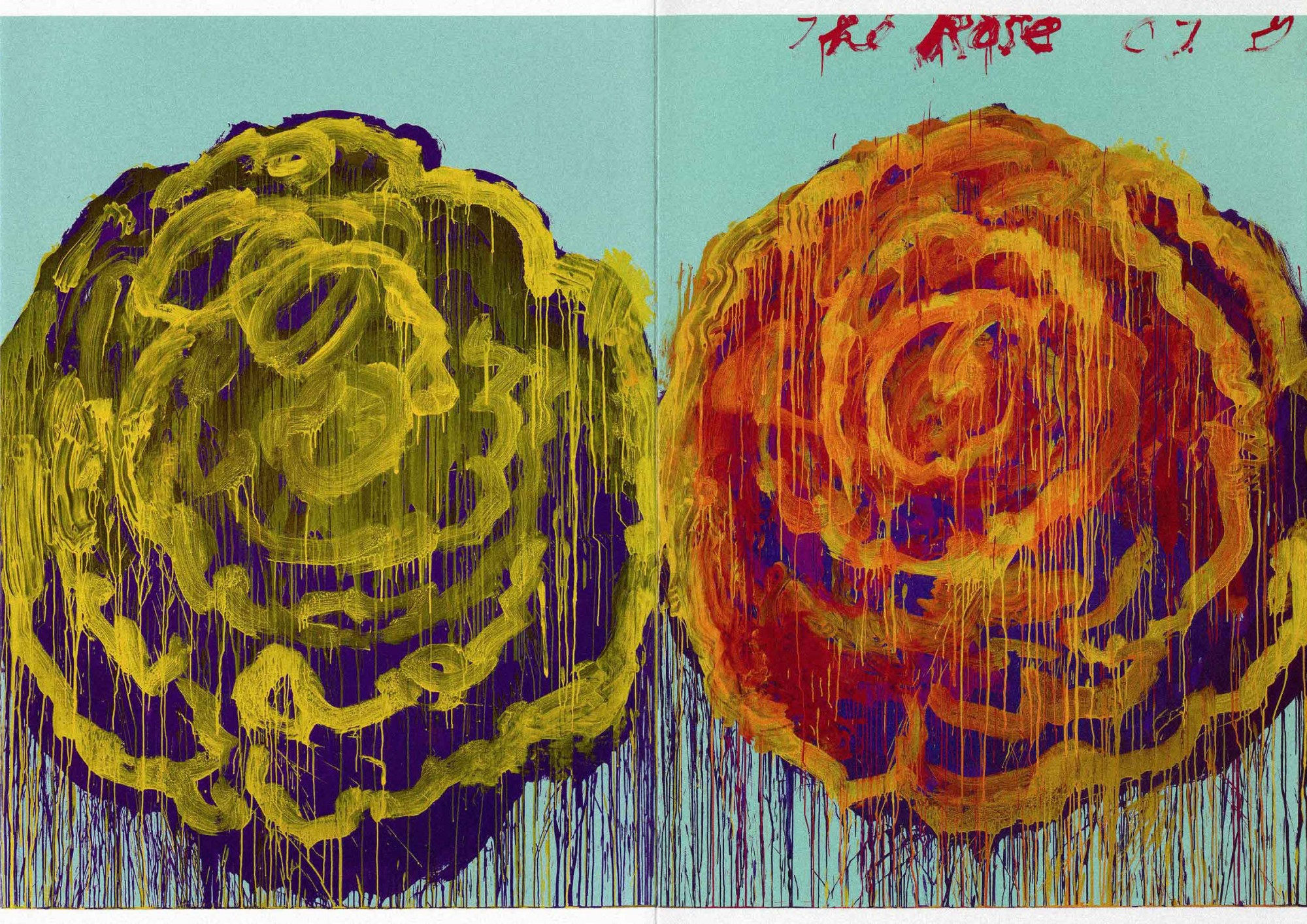 Cy Twombly - The Rose Pair - PANAMY Flower Delivery Switzerland
