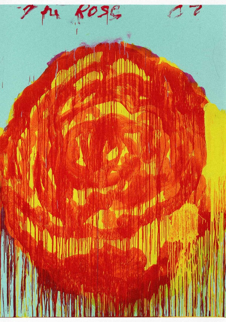 Cy Twombly - The Rose 2 - PANAMY Flower Delivery Switzerland