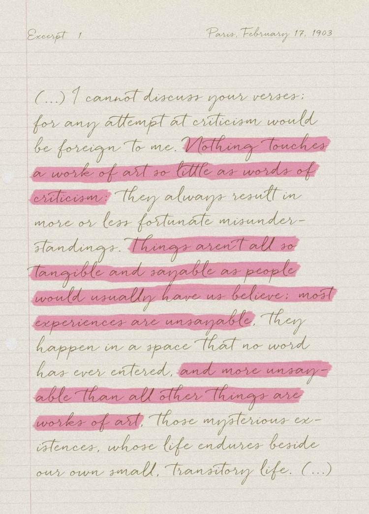 Rainer Maria Rilke - Briefe an einen jungen Dichter - Excerpt 1 - PANAMY Blumenversand Zürich, Genf, Basel, Lausanne, St Gallen, Luzern, Bern Zug