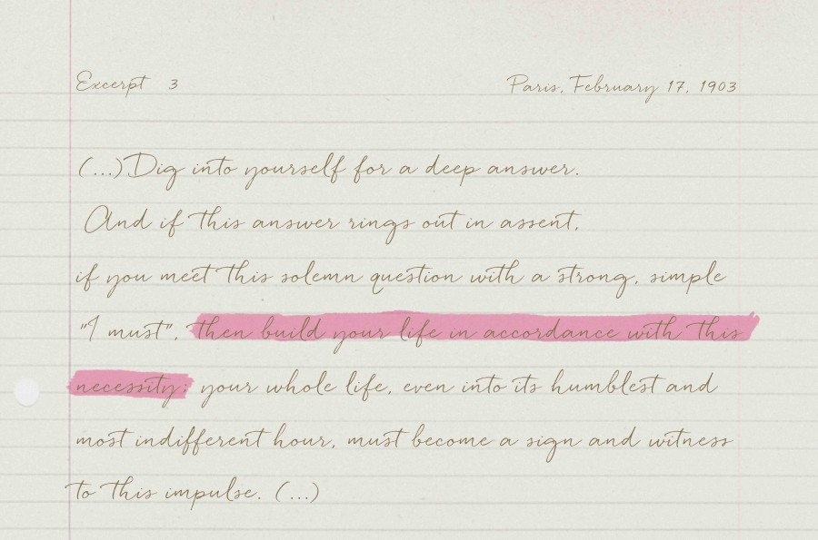 Rainer Maria Rilke, Letters to a young poet - Excerpt 3 - The Movement - PANAMY - Florist Geneva Switzerland