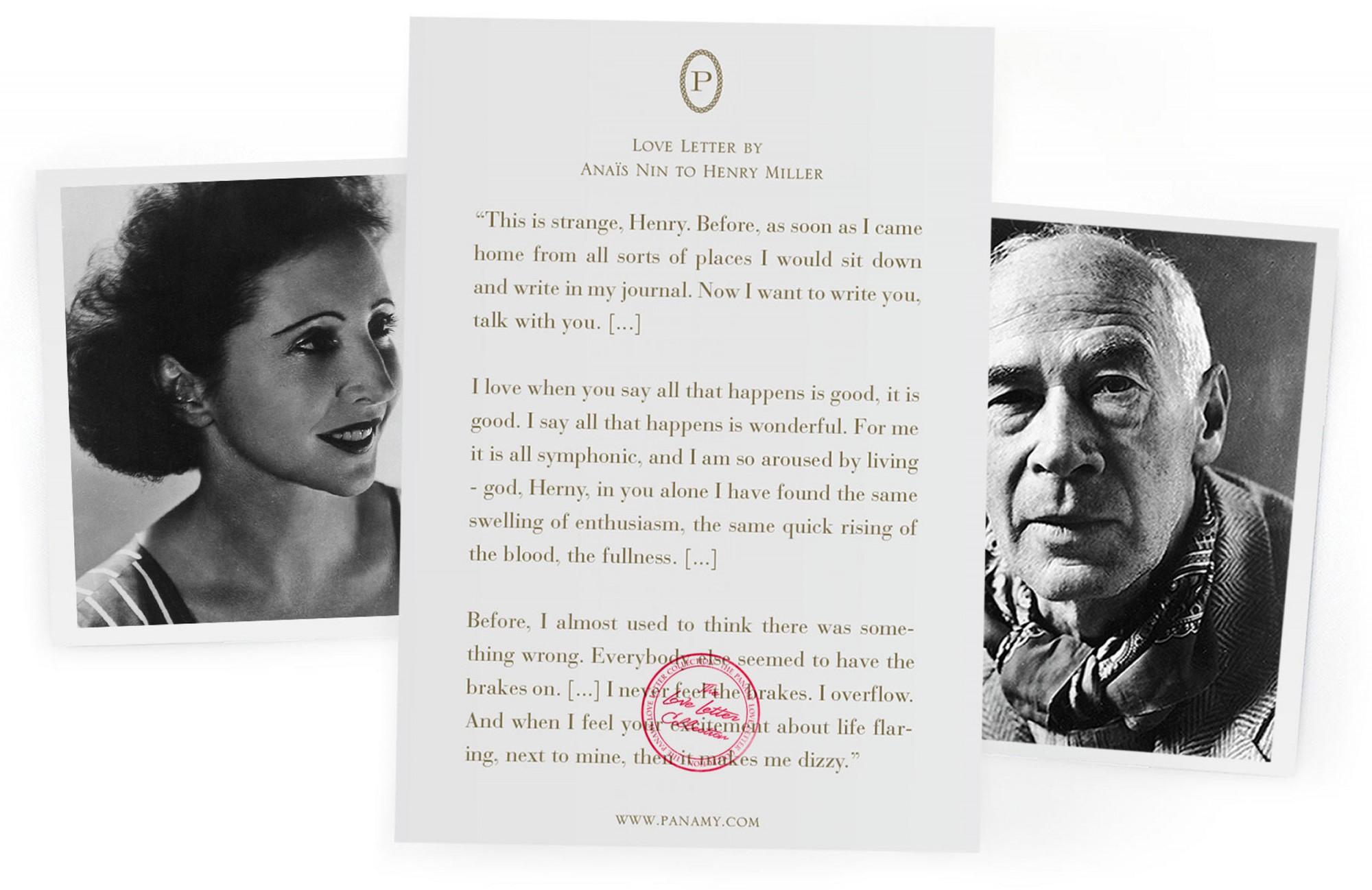 Anais Nin & Henry Miller - Frida Kahlo & Diego Rivera - Der Valentins Tag Führer - PANAMY Blumen versenden in der Schweiz, Blumenversand Schweiz Zürich, Basel, Bern, St Gallen, Zug